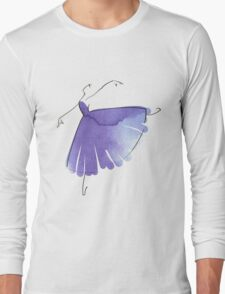 ballerina figure, watercolor Long Sleeve T-Shirt