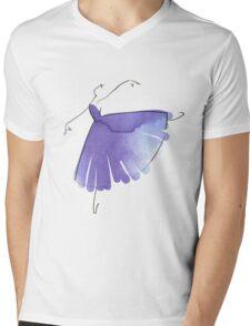ballerina figure, watercolor Mens V-Neck T-Shirt