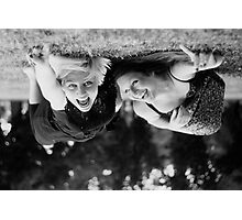 Happy in an Upsidedown World Photographic Print
