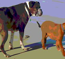 Murphy and Ned by kirst68