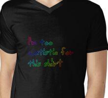 I'm too autistic for this shirt (Rainbow- black) Mens V-Neck T-Shirt