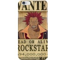 Wanted Rockstar - One Piece iPhone Case/Skin