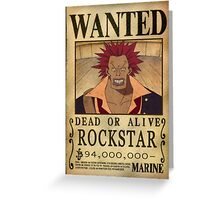 Wanted Rockstar - One Piece Greeting Card