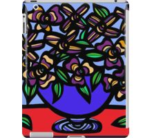 Emission Flowers Red Blue iPad Case/Skin