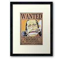 Wanted Crocodile - One Piece Framed Print