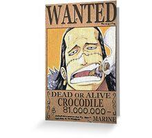 Wanted Crocodile - One Piece Greeting Card