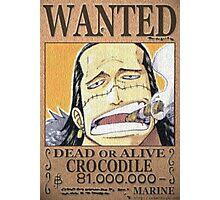 Wanted Crocodile - One Piece Photographic Print