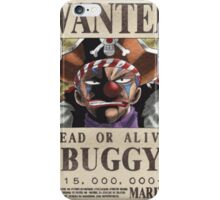 Wanted Buggy - One Piece iPhone Case/Skin