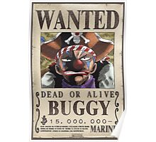 Wanted Buggy - One Piece Poster