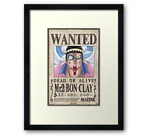 Wanted Mr2 - One Piece Framed Print