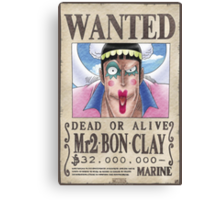 Wanted Mr2 - One Piece Canvas Print