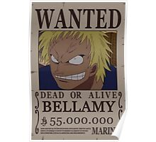 Wanted Bellamy - One Piece Poster