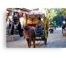 Local Taxi Zang Village Yunan Province China Canvas Print