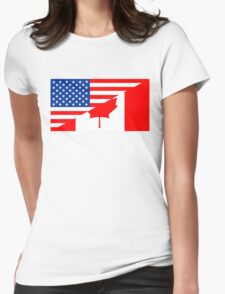 usa canada Womens Fitted T-Shirt