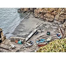 Boats at the Lizard Photographic Print