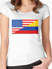 usa colombia Women's Fitted Scoop T-Shirt