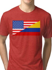 usa colombia Tri-blend T-Shirt