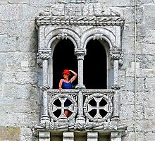 Belém Lady with a red hat. Torre de Belém. by terezadelpilar ~ art & architecture
