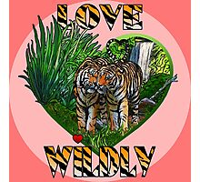 LOVE WILDLY (pink) Photographic Print