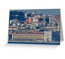 Lisbon. view from Tejo river. Greeting Card