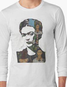 Frida Kahlo Paintings and Photographs Mix Long Sleeve T-Shirt