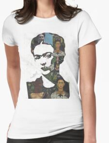 Frida Kahlo Paintings and Photographs Mix Womens Fitted T-Shirt