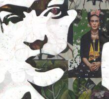 Frida Kahlo Paintings and Photographs Mix Sticker