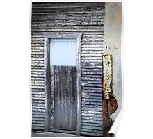 Rustic Door - Fred Ash Building, Newcastle NSW Poster
