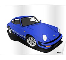 My own 911 in blue Poster
