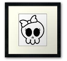 Cute skull  Framed Print