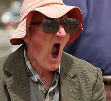 Old Man Yawning 2 by Annie Austin