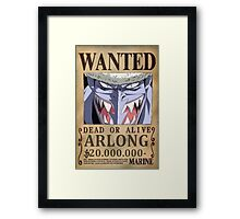 Wanted Arlong - One Piece Framed Print