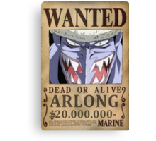 Wanted Arlong - One Piece Canvas Print