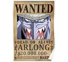 Wanted Arlong - One Piece Poster