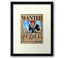 Wanted Puzzle - One Piece Framed Print