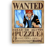 Wanted Puzzle - One Piece Canvas Print