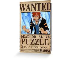 Wanted Puzzle - One Piece Greeting Card