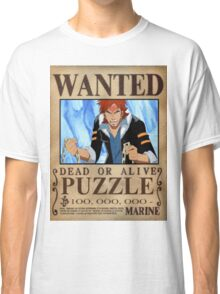 Wanted Puzzle - One Piece Classic T-Shirt