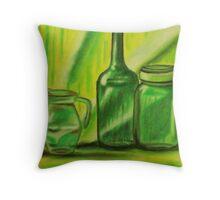 Still-Life in green Throw Pillow