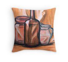 Still-life in orange Throw Pillow