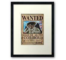 Wanted Coribou - One Piece Framed Print