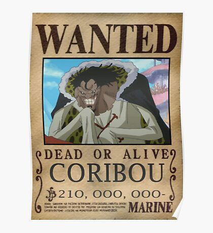 Wanted Coribou - One Piece Poster