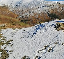 Footsteps In The Snow - Helm Crag - Lake District by Rod Unwin