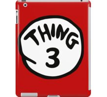 Thing 3 and thing 4 for couple and kids iPad Case/Skin