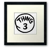 Thing 3 and thing 4 for couple and kids Framed Print