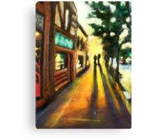 Walking in Campustown Canvas Print