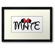 Soul Mate for couples Framed Print