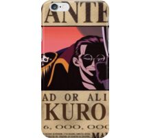 Wanted Kuro - One Piece iPhone Case/Skin