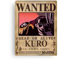 Wanted Kuro - One Piece Canvas Print