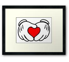 Love fingers Framed Print